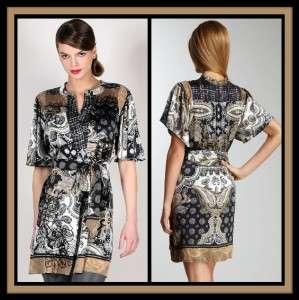 Hale Bob Stretch Silk Dress L XL 10 12 14 UK 14 16 18 NWT Paisley