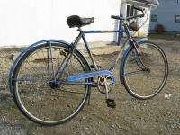 Schwinn World 20 cruiser bike mens sturmey archer brooks 1951 Blue