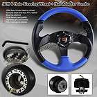 96 00 HONDA CIVIC PVC BLUE/BLACK STEERING WHEEL+ADAPTER