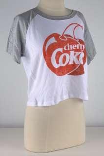 Coca Cola White Cherry Coke Baseball Crop Tee 2449
