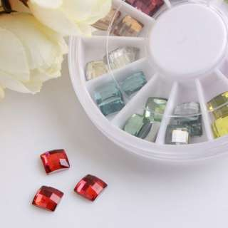 Nail Art Rhinestones Glitter Tips Decoration Manicure Wheel