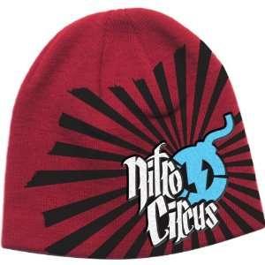 Alpinestars Rising Fun Nitro Circus Mens Beanie Casual Wear Hat   Red