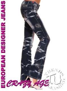 New Womens Sexy Boot Cut Stretch Denim Jeans SIZE 12