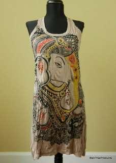 Ganesh Hindu God Shirt Tunic Yoga Tank Top Mini Dress Art New Gift
