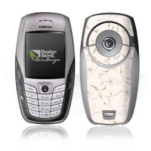 Design Skins for Nokia 6600 romantic flower swirls on PopScreen