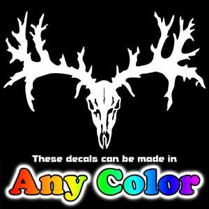 Deer Skull 20 Buck Hunting Auto Window Stickers Decals