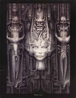 GIGER print woman and skulls LI II