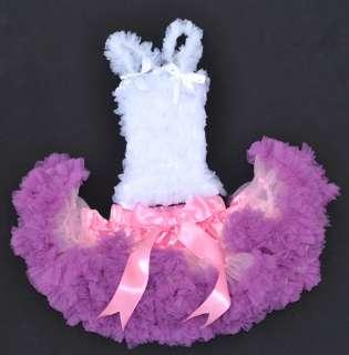 pink purple bow Ballet girl Skirt baby toddler Tutus dress