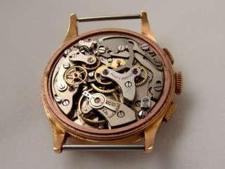 BAUME & MERCIER Geneve vintage chronograph, 18K solid gold, Landeron