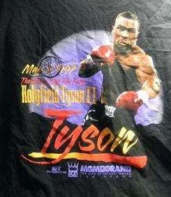 Mike Tyson MGM Grand Las Vegas 1997 Holyfield Tyson II T shirt 2XL XXL