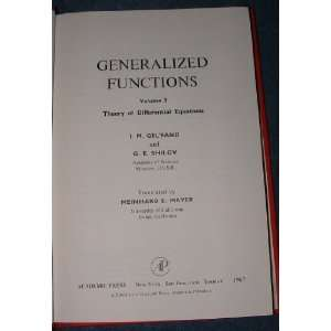 Generalized Functions Volume 3 Theory of Differential Equations I.M
