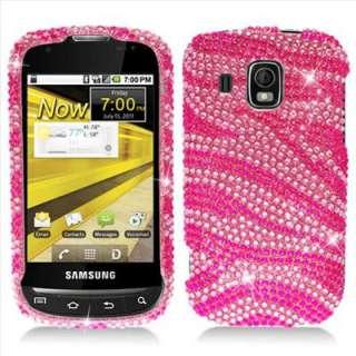 Zebra Bling Hard Case Cover for Boost Mobile Samsung Transform Ultra
