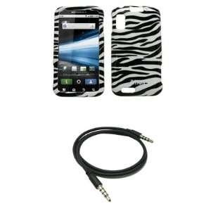 EMPIRE Black and White Zebra Stripes Design Hard Case Cover + 3.5mm