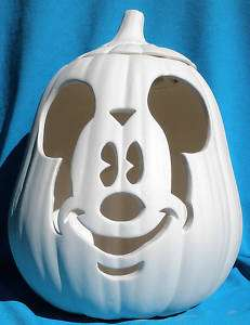 MICKEY MOUSE FACE PUMPKIN CERAMIC BISQUE U PAINT