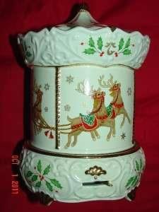 LENOX  CHRISTMAS MINIATURE CAROUSEL MUSICAL