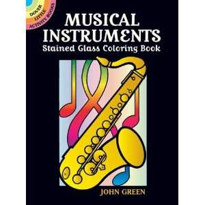 Musical Instruments Stained Glass Coloring Book (Dover Stained Glass