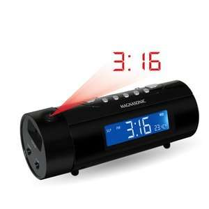 Magnasonic MAG MM178K AM/FM Projection Clock Radio with Dual Alarm