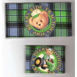 Cover Debit Set John Deere Tractor Teddy Bear
