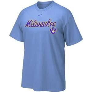 Milwaukee Brewers Light Blue Outta The Park T shirt