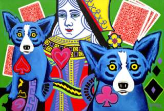 Luck Be A Lady Blue Dog Poster By George Rodrigue 1999