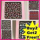 3D Design Nail Art Stickers, Choose your design,
