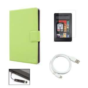 Green Kindle Fire Super Slim Ultra Thin Book Cover Style
