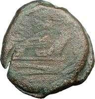 Anonymous 225BC Roman Republic Authentic Ancient Coin JANUS & SHIP