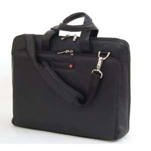 Swiss Bags Leather Laptop Briefcase Notebook Case Tote Bag