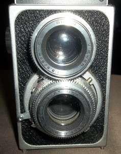 Super Ricohflex Large Format TLR Film Camera and Leather Case