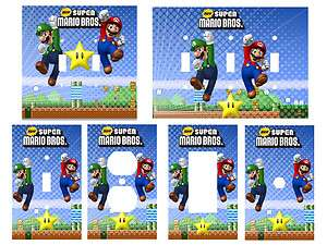 Super Mario Brothers Bros Light Switch Cover, Outlets, Rocker, Double
