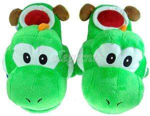 Nintendo Super Mario Brothers Yoshi Adult Plush Slipper
