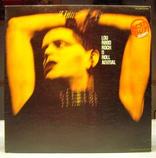 Lou Reed Rock N Roll Animal LP VG+ Reissue