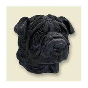 Shar Pei Dog Magnet   Black Kitchen & Dining