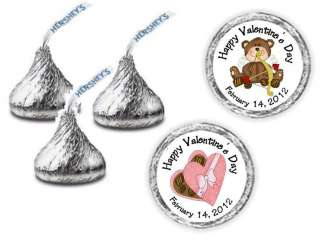 Personalized Valentines Day Hershey Kiss Candy Labels Wrappers