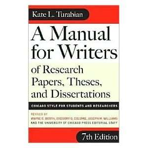 A Manual for Writers of Research Papers, Theses, and