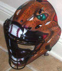 AIRBRUSHED SNAKE CATCHERS MASK RAWLINGS NEW YOUTH