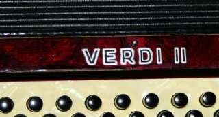 VINTAGE HOHNER VERDI II PIANO ACCORDION W/CASE   GERMNAY