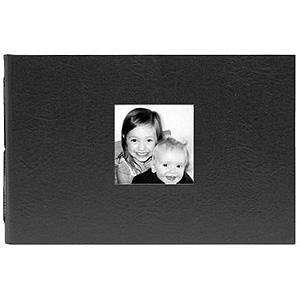 NOCI mini Black Leather/white album with 4x6 pockets by