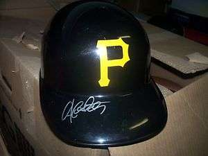 Andrew McCutchen Pittsburgh Pirates Signed F/S Helmet COA