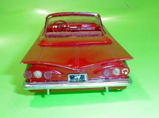AMT SMP 1959 Chevy Impala Convertible Annual Original Model Parts Car