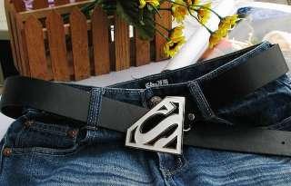 Superman logo fashion Metal Buckle leather Belt BSU7B