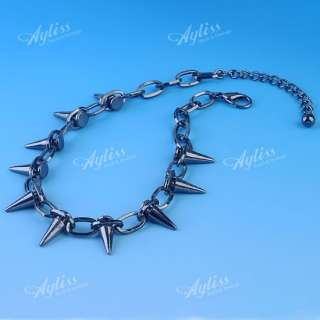 Spike Chain Link Bracelet/ Necklace Punk Mens Cool Gothic Rock