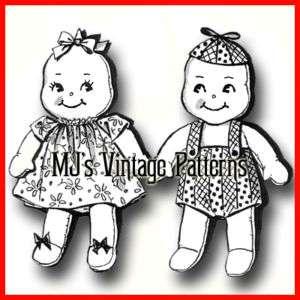 Vintage Pattern for Boy & Girl Pixie Kewpie Dolls