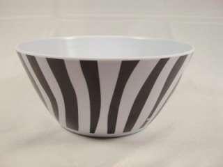 , PLASTIC SMALL BOWL, BLACK & WHITE COLORS, ZEBRA PRINT, ROUND SHAPE