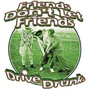 Stooges Golf Friends Dont Let Friends Drive Drunk FLAG