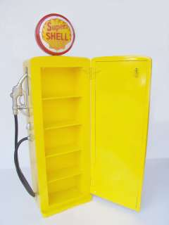 Shell Yellow Gas Pump Cabinet 5FT