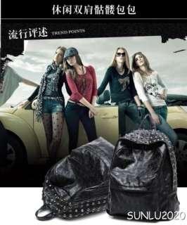 Skull Backpack Bag New Crossbone Large Design Gothic Corss Daypack
