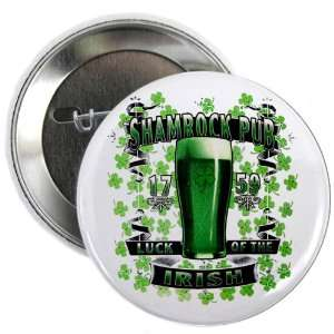 25 Button Shamrock Pub Luck of the Irish 1759 St Patricks Day Four