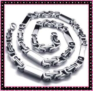 Stainless Steel Silver Tone Necklace Links Chain Mens
