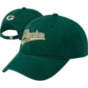 Women`s Green Bay Packers Team Color Script Slouch Cap